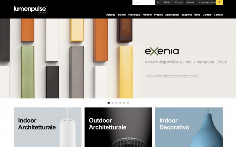 The Lumenpulse Group website  features all the Exenia products